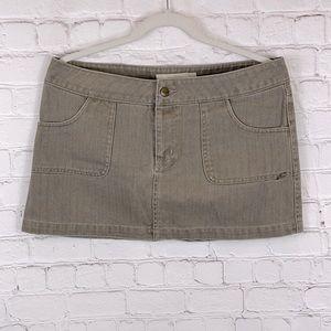 O'Neill Mini Skirt Denim Gray Flap Pockets Size 9